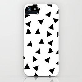 hand drawn triangles (haphazard pattern) iPhone Case