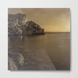 Serenity Sea ..... Hand Painted Photograph Metal Print