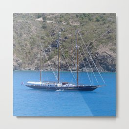 SAILING THE WEST INDIES............ Metal Print