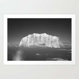 Cloud \ Mountains Under Cover Art Print