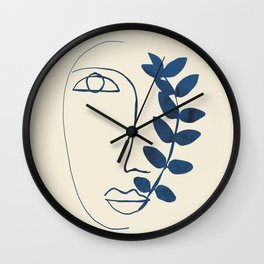 Abstract Face 5 Wall Clock