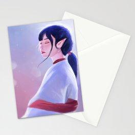 Glowing Elf Lady Stationery Cards