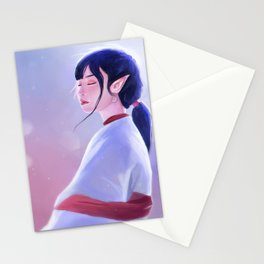 Glowing Elf Lady Stationery Cards