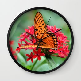 Butterfly 3 Wall Clock
