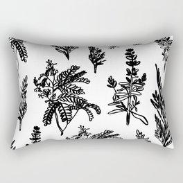 fleur noir Rectangular Pillow