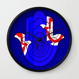 Pop Art Hamsa Hand Wall Clock