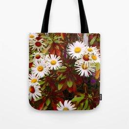 Train Track Flowers Tote Bag