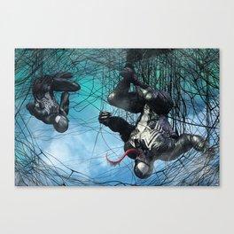 Venom and Spidey. Teamp-up Canvas Print
