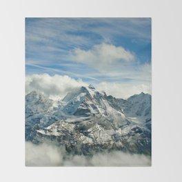 Swiss Alps Throw Blanket