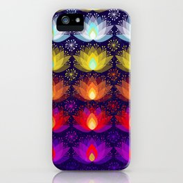 Variations on a Lotus I - Sparkle Brightly iPhone Case