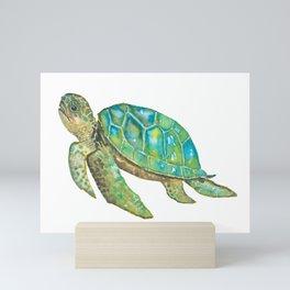 Watercolor Turtle Mini Art Print