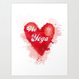 We Love Yoga Art Print