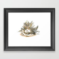 Pile of Fluff, out for a walk Framed Art Print