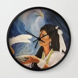 Native American Shaman Wall Clock