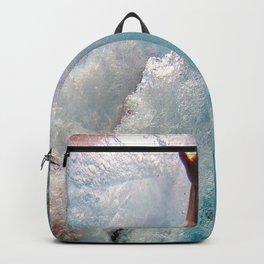 Pool - Blue Water - Beach - Ocean - Waves - Splash Backpack