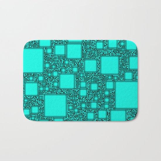 Electronics Blue Bath Mat