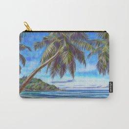 Tropical island beach Carry-All Pouch