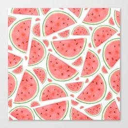 Watercolour Watermelon Canvas Print