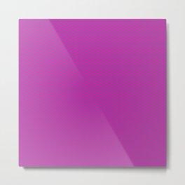Pink Grey Chevron Pattern Metal Print
