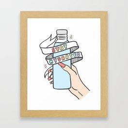 Stay Hydrated Framed Art Print