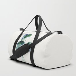Water lily leaves Duffle Bag