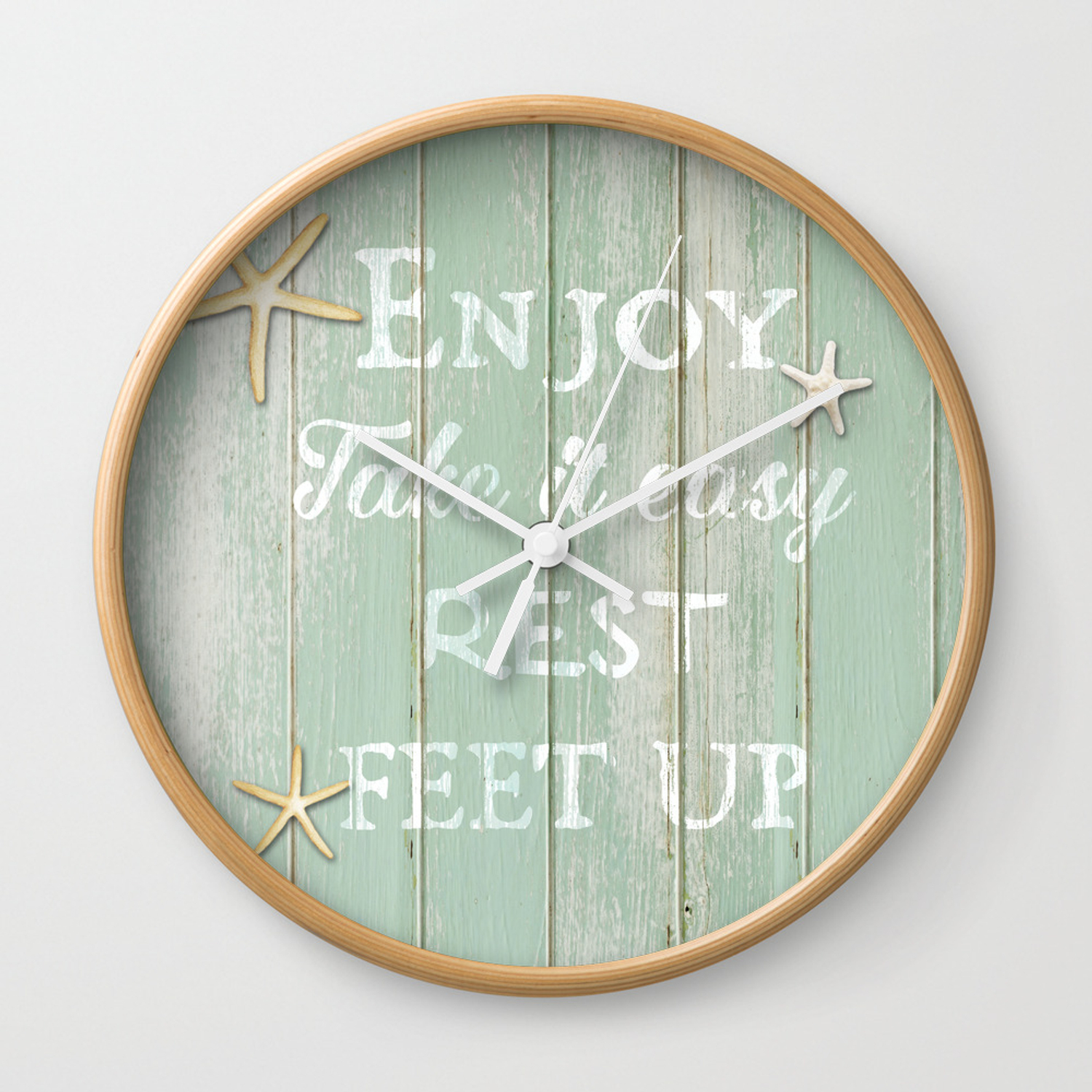 Reclaimed Wood Background Wall Clock