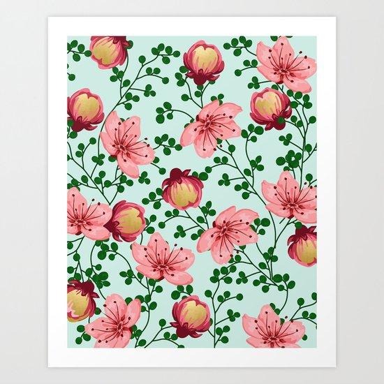 Blush Vines #society6 #decor #buyart Art Print