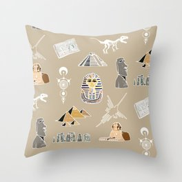 Archeo pattern Throw Pillow