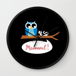 Meoooowl Wall Clock