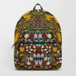 Fantasy forest and Fantasy plumeria flowers in peace Backpack
