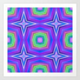 saturn 12 cross Art Print