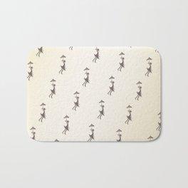 Umbrella Girl - Hand drawn design Bath Mat
