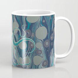 Ocean Vintage Octopus Surf Gold Summer Coffee Mug