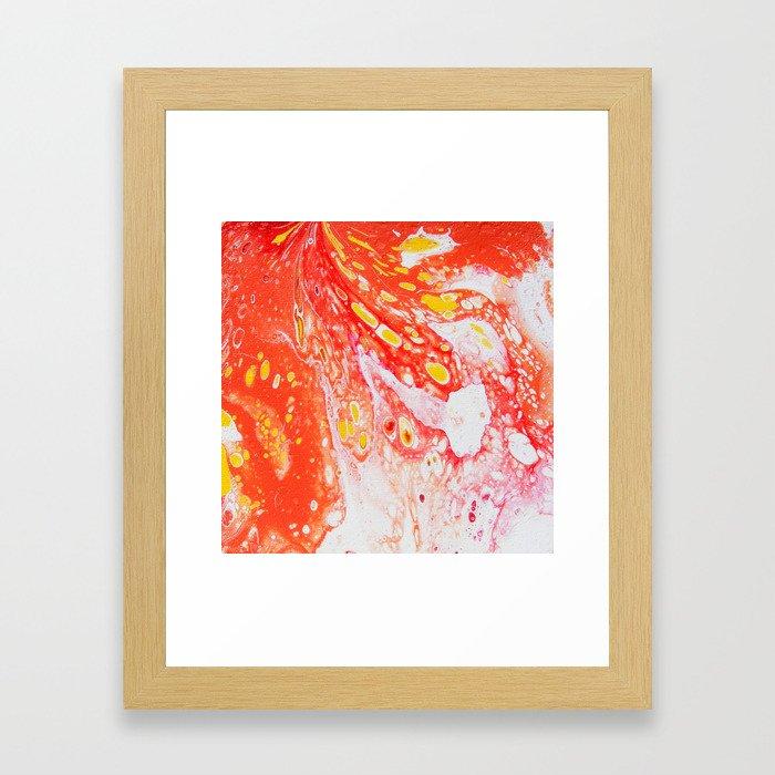 Orange Candy Coating Framed Art Print