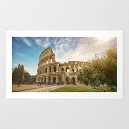 Discovering Coliseum Art Print