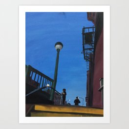 Blue Not Quite Night Art Print