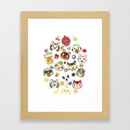 animal crossing cute villagers Framed Art Print