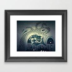 Midnight swirls Framed Art Print