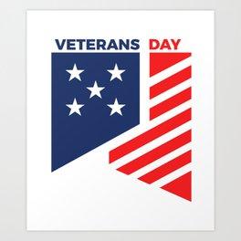 Veterans Day Commemorative Design Art Print