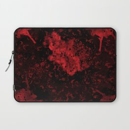 Red Black Drips Abstract Laptop Sleeve