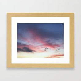 another sunset photo Framed Art Print