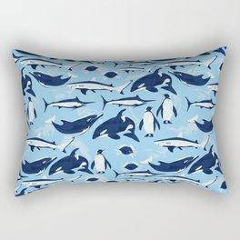 Marine Life Pattern Rectangular Pillow