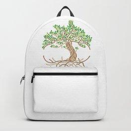 Rope Tree of Life. Rope Dojo 2017 white background Backpack