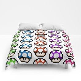 Multicoloured Mushrooms Comforters