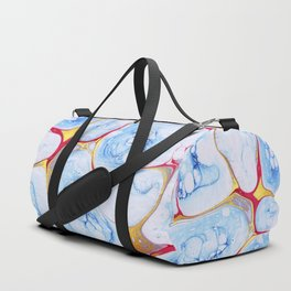 Marble bubble ocean watercolor Duffle Bag