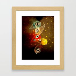 Lighting Birds Whimsical Art Framed Art Print