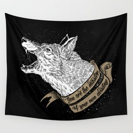 Wolf Protector (Black n Bronze collection) Wall Tapestry