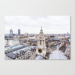 City View over London from St. Paul's Cathedral 2 Canvas Print