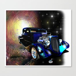Hot Rods In Space Canvas Print