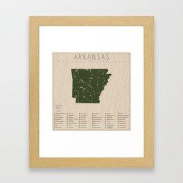 Arkansas Parks Framed Art Print